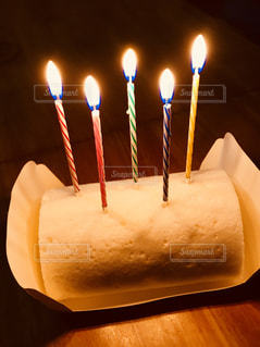 白いロールケーキの写真・画像素材[1430721]
