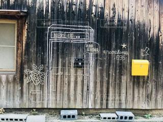 直島の壁アートの写真・画像素材[1310457]