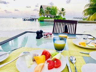モルディブの朝食の写真・画像素材[1311635]