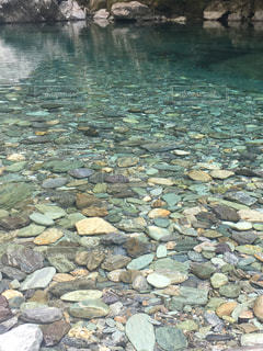 硝子のような水面の写真・画像素材[1310985]