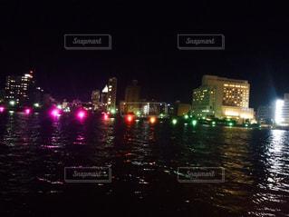 新潟の川 綺麗な電飾の写真・画像素材[1313487]