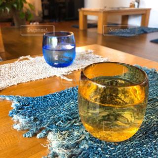 琉球ガラスのグラスの写真・画像素材[1311723]