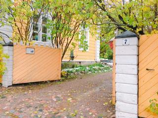 家の前に木の写真・画像素材[1317676]