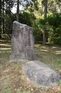 巨大な石の写真・画像素材[4307682]