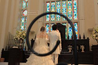 ステンドガラスの花嫁の写真・画像素材[1320957]
