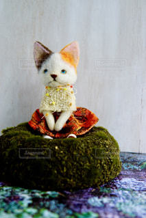 おすわり猫ちゃんの写真・画像素材[1316781]