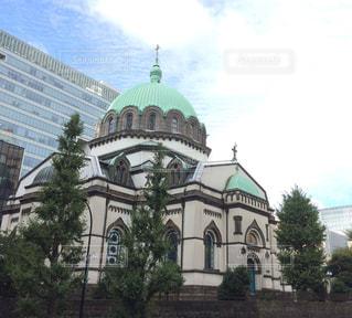 大きな白い建物の写真・画像素材[1465252]