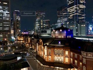 夜の街の景色の写真・画像素材[1537192]