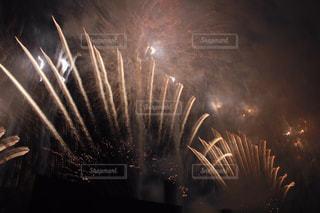 空に花火の写真・画像素材[1318484]