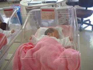 生まれたばかりの娘の写真・画像素材[1318942]