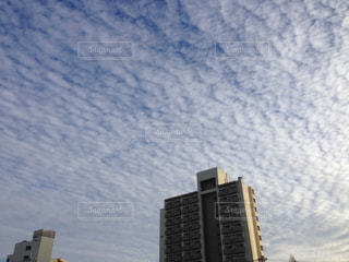 不思議な雲模様の写真・画像素材[1319157]