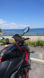バイクと海と空の写真・画像素材[1319263]