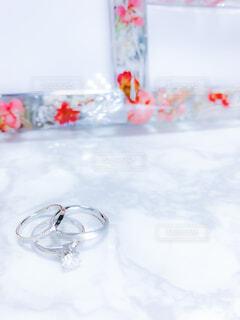 3つの大切な指輪の写真・画像素材[4385860]