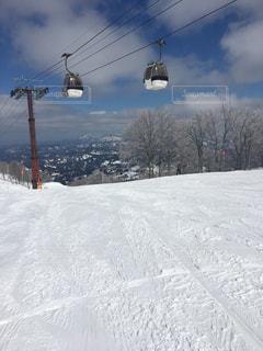 晴れたスキー場の写真・画像素材[1321384]