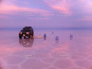 ウユニ塩湖の写真・画像素材[1366587]