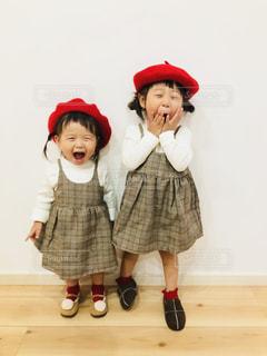 姉妹リンクコーデ❤️の写真・画像素材[1440301]