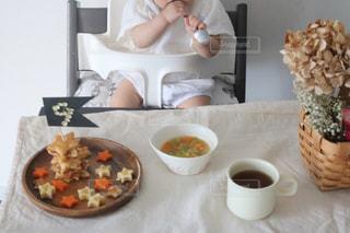 0歳9ヶ月の朝ごはんの写真・画像素材[1327414]