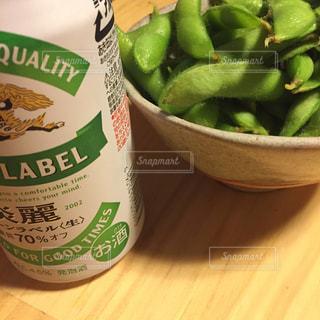 枝豆とビールの写真・画像素材[1325828]