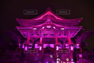 善光寺のライトアップの写真・画像素材[1717782]