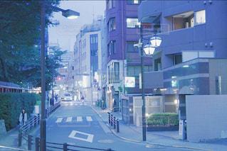 夜の住宅街の写真・画像素材[1328906]