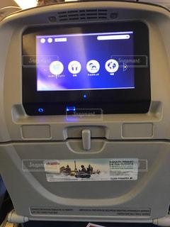 飛行機内のモニターの写真・画像素材[1339875]