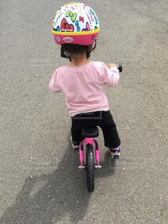 自転車の練習の写真・画像素材[1400063]