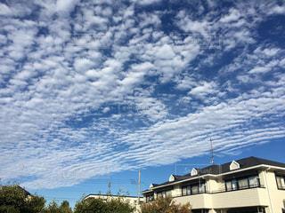 空一面の楽譜のような雲の写真・画像素材[1587405]