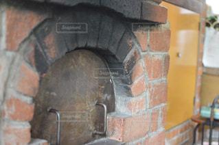 手作りピザ窯の写真・画像素材[1335804]