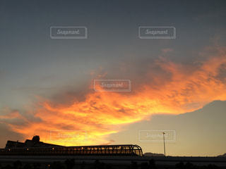 空が燃えているの写真・画像素材[1355756]