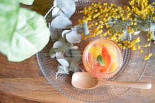 ブラッドオレンジゼリーの写真・画像素材[3020590]