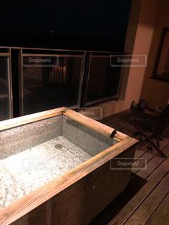露天風呂付客室の写真・画像素材[1568282]