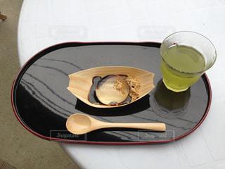 水信玄餅とお茶の写真・画像素材[1333686]