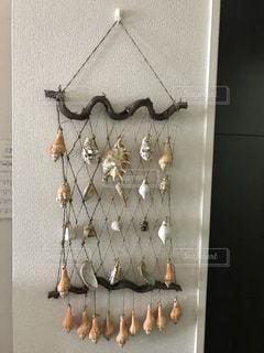 貝殻タペストリーの写真・画像素材[1332956]