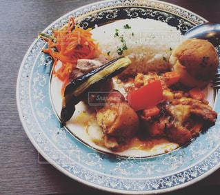 ロシアやウクライナ料理のワンプレートランチの写真・画像素材[1852510]