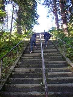 階段登り競争の写真・画像素材[1367185]