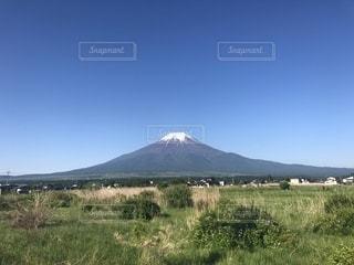 忍野からの富士山の写真・画像素材[1335372]