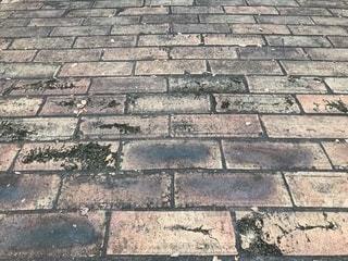 レンガ敷きの地面の写真・画像素材[1560936]