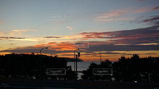 玄界灘の夕焼けの写真・画像素材[1335415]