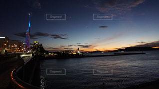 福岡タワー夜景の写真・画像素材[1335420]
