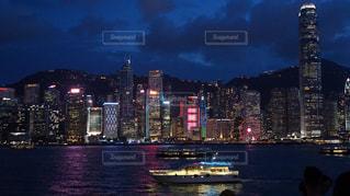 香港の夜景の写真・画像素材[1387553]