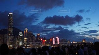 香港の夜景の写真・画像素材[1387554]