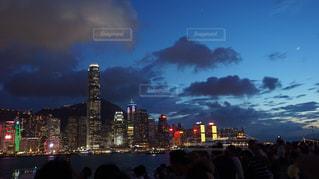 香港の夜景の写真・画像素材[1387555]