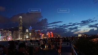 香港の夜景の写真・画像素材[1387556]