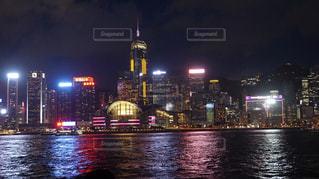 香港の夜景の写真・画像素材[1387557]