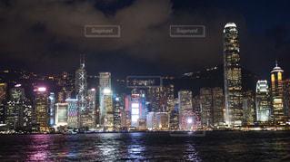 香港の夜景の写真・画像素材[1387558]