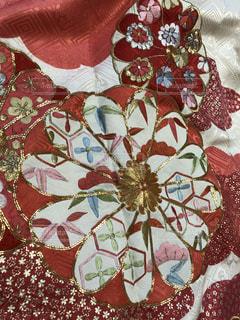 花模様絹の素敵な着物生地の写真・画像素材[1337366]