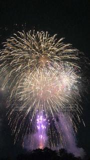 空に花火の写真・画像素材[1381272]