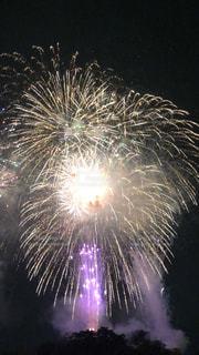 空に花火の写真・画像素材[1381273]
