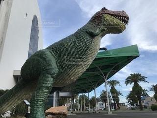 恐竜の模型の写真・画像素材[1387083]