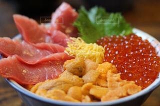 海鮮丼のアップの写真・画像素材[1338931]